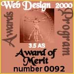 Award of Merit by WD 2000, Italy